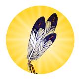 Icone Vol de l'aigle Arc-en-Ciel de Vie